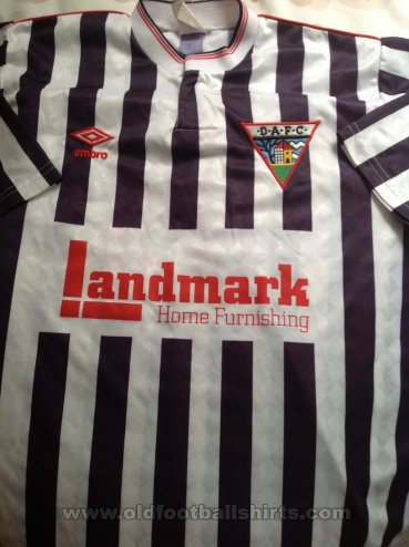 Dunfermline Athletic Home football shirt 1989 - 1990