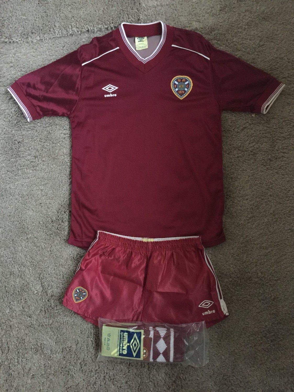 new styles 5f5f5 c3fd3 Heart Of Midlothian Home camisa de futebol 1983 - 1986 ...