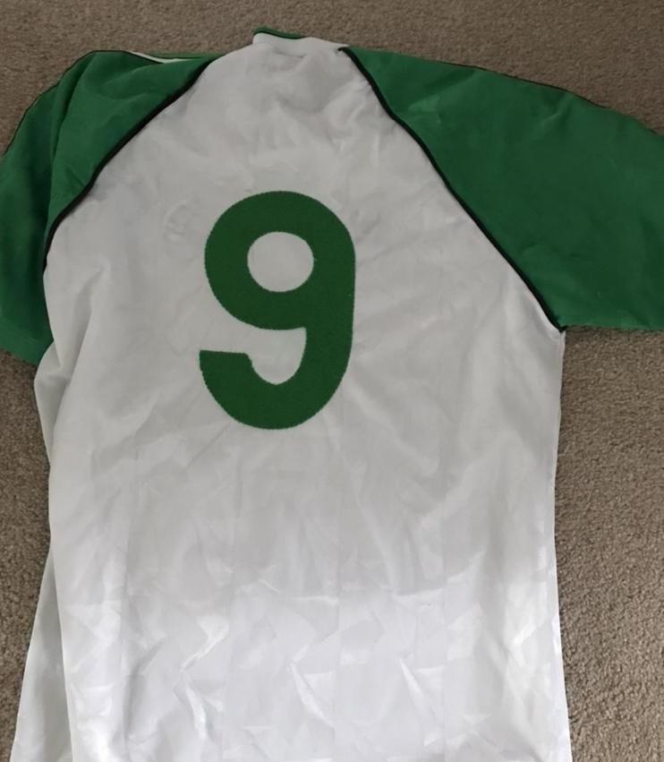 Hibernian ext rieur maillot de foot 1989 1991 ajout for Maillot exterieur