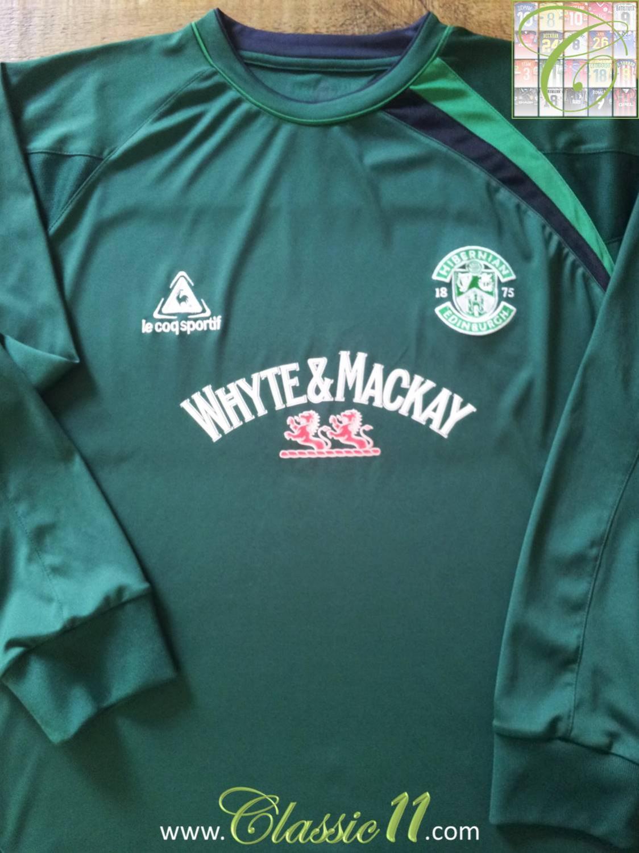 cc39d5ee21a Hibernian Away maglia di calcio 2006 - 2007. Sponsored by Whyte & Mackay
