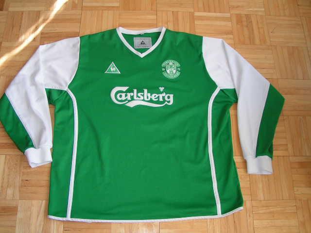fa8c9c7f55c Hibernian Home maglia di calcio 2002 - 2003. Sponsored by Carlsberg