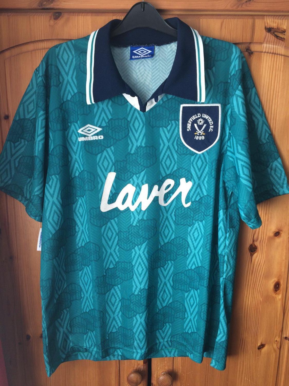 Sheffield United Away חולצת כדורגל 1994 - 1995. Sponsored by Laver 778c01e62