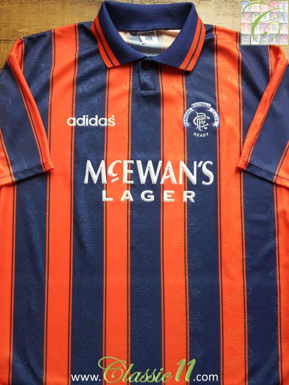 Rangers Away football shirt 1993 - 1994. Sponsored by McEwan's