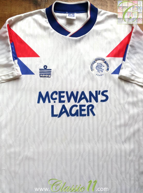 Rangers Away football shirt 1990 - 1992. Sponsored by McEwan's