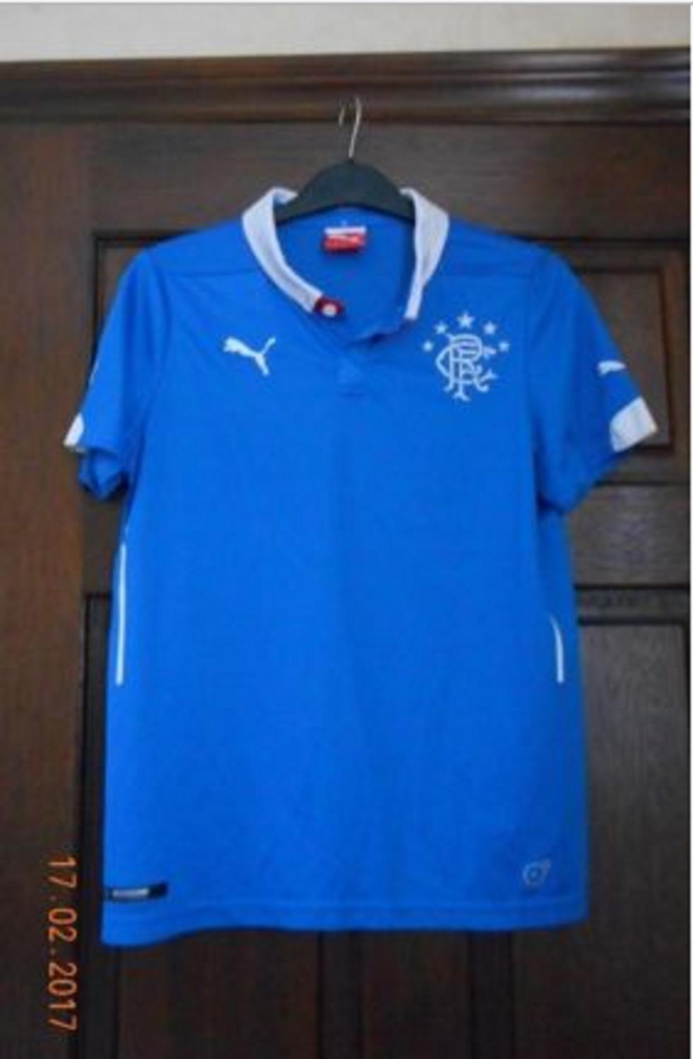 9f375db36 Rangers Home camisa de futebol 2014 - 2015. Sponsored by no sponsor