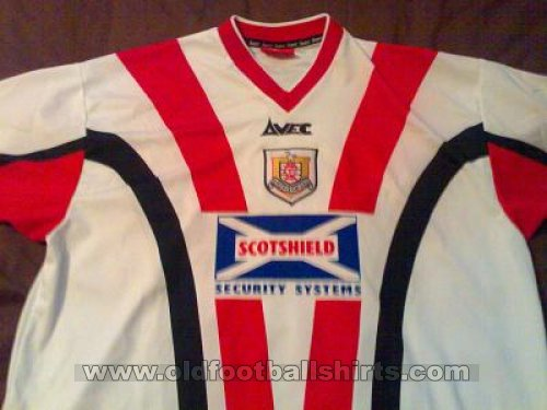 Airdrieonians F.C. Home football shirt 1999 - 2000
