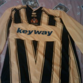 Gloucester City Home voetbalshirt  (unknown year) sponsored by Keyway
