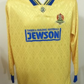 Gloucester City Home voetbalshirt  1993 - 1994 sponsored by Jewson