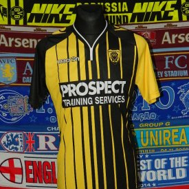Gloucester City Home voetbalshirt  (unknown year) sponsored by Prospect Training Services