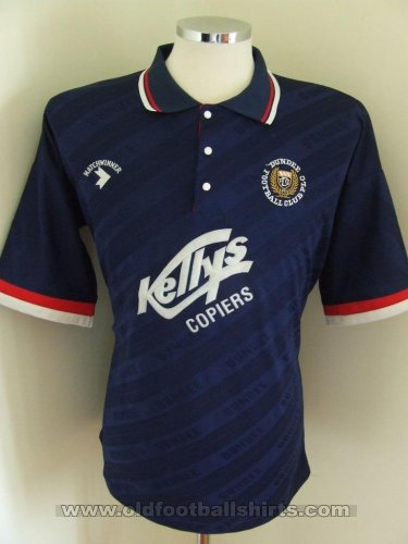 Dundee Home Fußball-Trikots 1991 - 1992