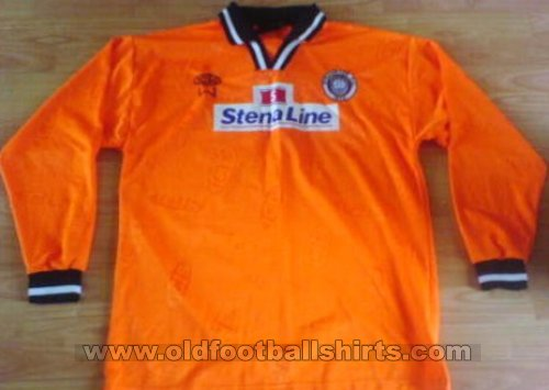 Stranraer Away football shirt 2002 - 2004