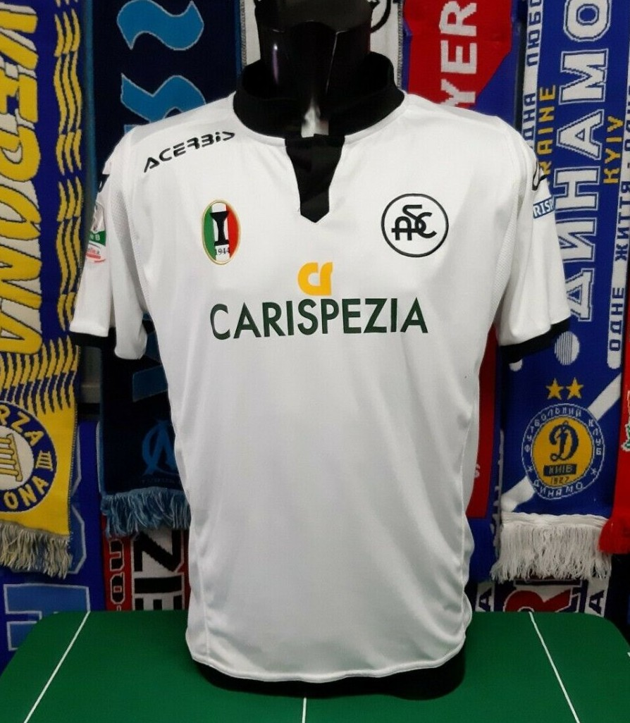 Spezia Calcio Home Baju Bolasepak 2015 2016 Sponsored By Carispeza