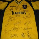 Dumbarton football shirt 2003 - 2004