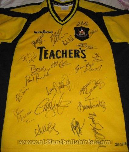 Dumbarton Home football shirt 2003 - 2004