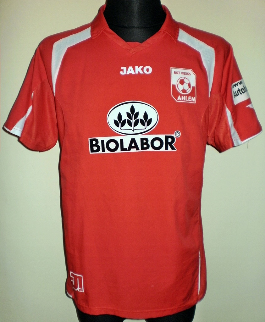 rot weiss ahlen home football shirt 2008 2009 added on. Black Bedroom Furniture Sets. Home Design Ideas
