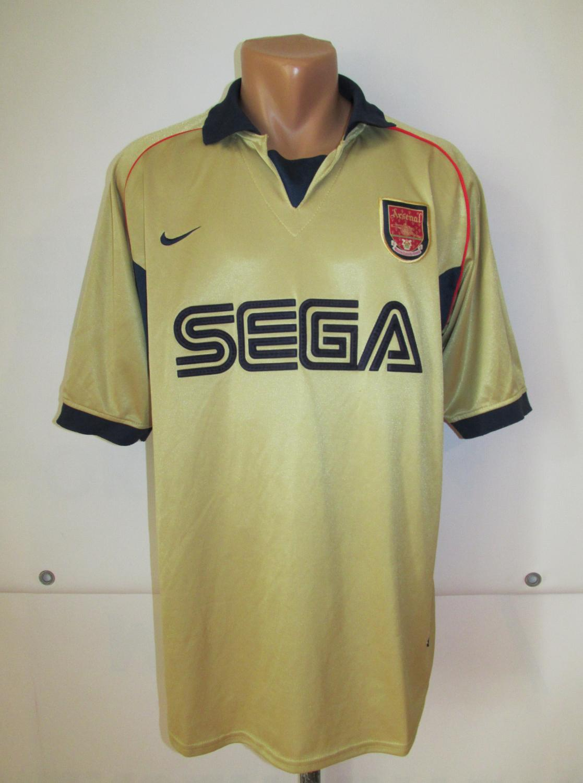 9dc66d02113 Arsenal Away maglia di calcio 2001 - 2002. Sponsored by SEGA
