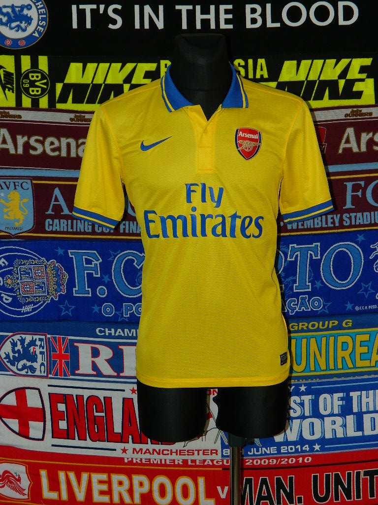 873887a1f Arsenal Away football shirt 2013 - 2014. Sponsored by Emirates