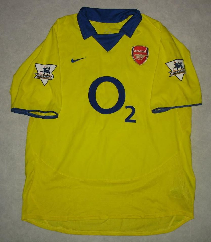 arsenal ext rieur maillot de foot 2003 2004 ajout 2012