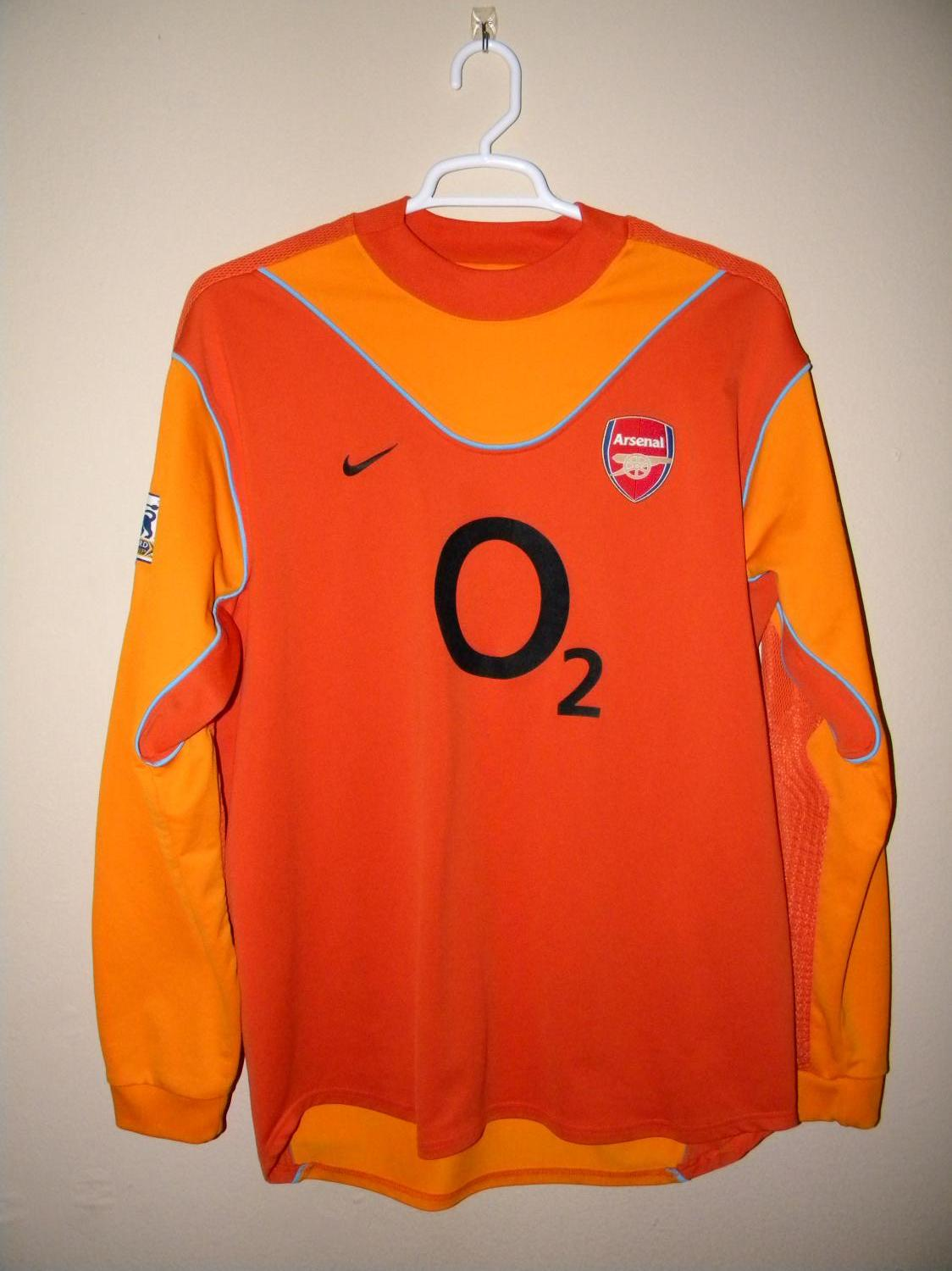 fa82dc70f Arsenal Goalkeeper Maillot de foot 2003 - 2004. Sponsored by O2