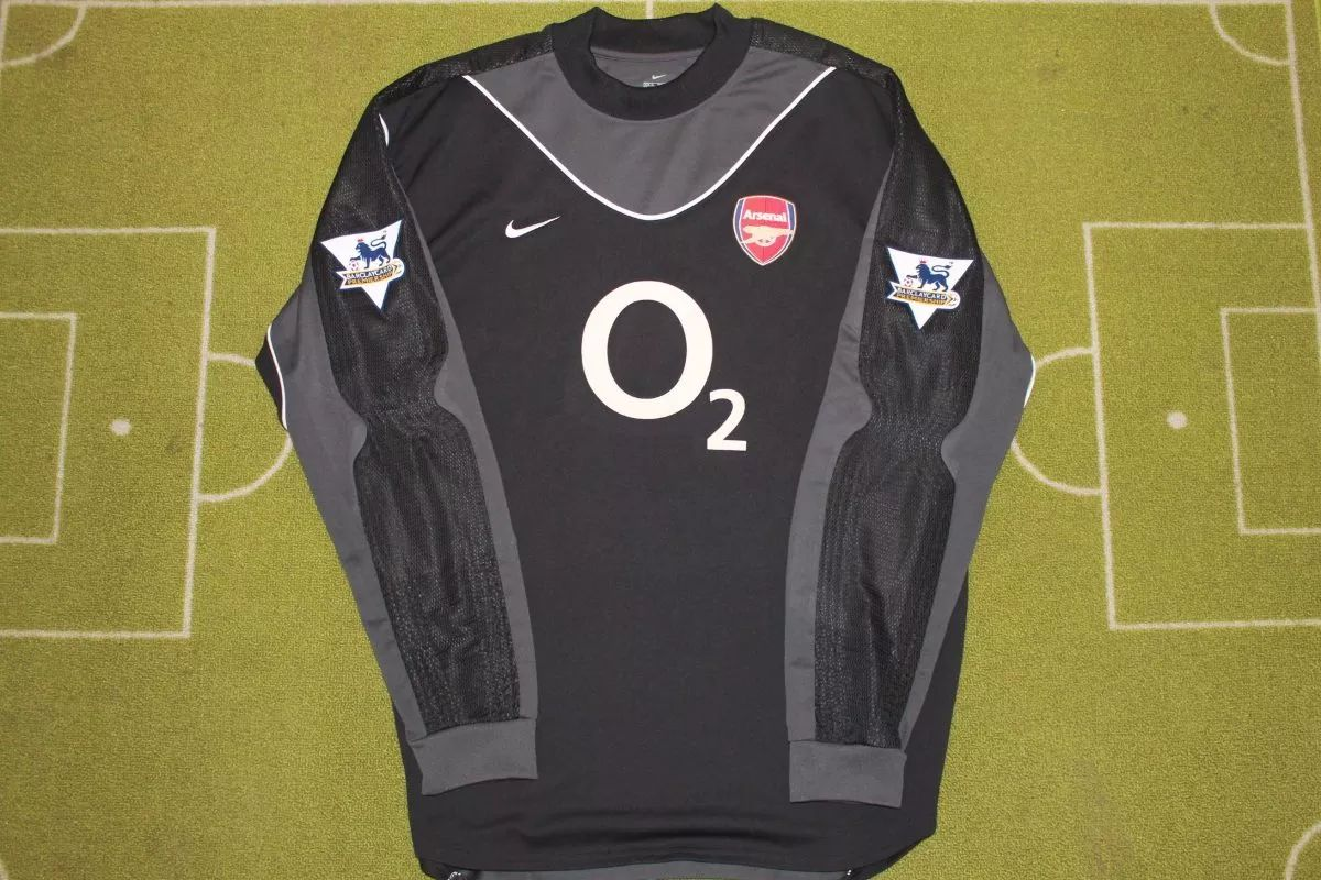 cheaper 0c13c 3a36c Arsenal Goalkeeper camisa de futebol 2003 - 2004. Sponsored ...