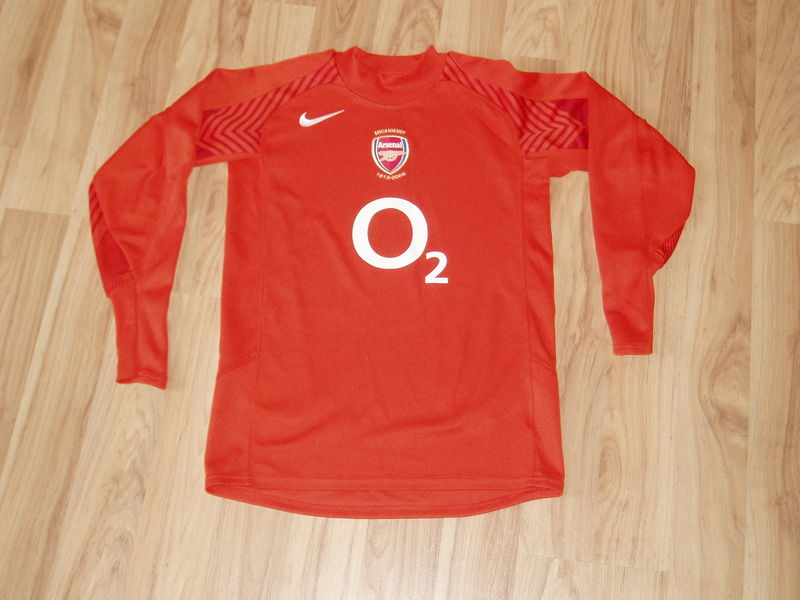00464c2288d Arsenal Goalkeeper camisa de futebol 2005 - 2006. Sponsored by O2