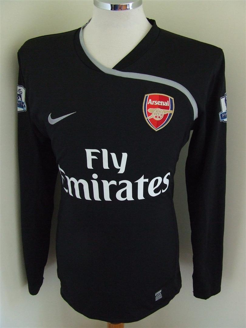 online store 32bf5 506a5 Arsenal Goalkeeper Camiseta de Fútbol 2008 - 2009. Sponsored ...