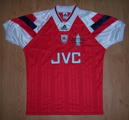 arsenal home football shirt 1992 1994 added on 2017 07