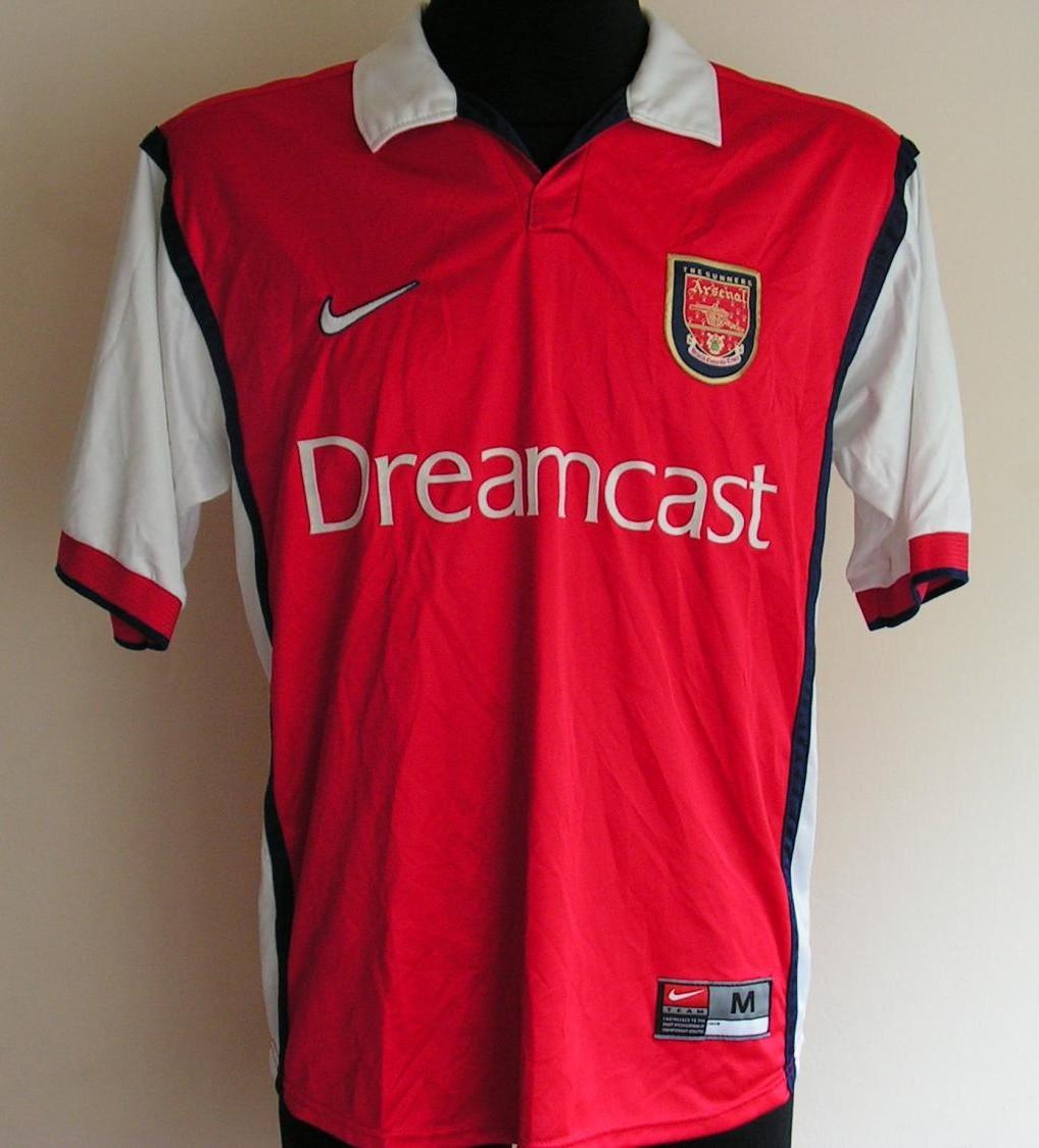 arsenal home football shirt 1999 2000 added on 2014 07