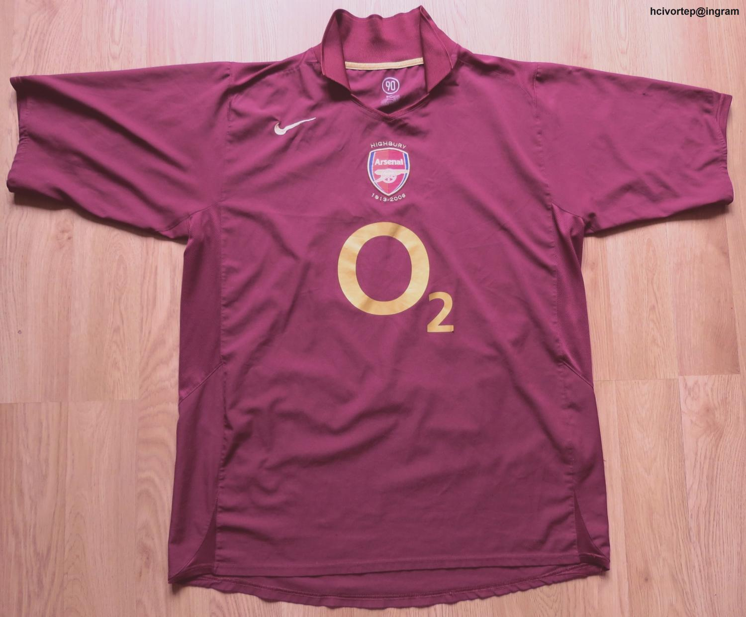 868ed2fbb Arsenal Home футболка 2005 - 2006. Sponsored by O2