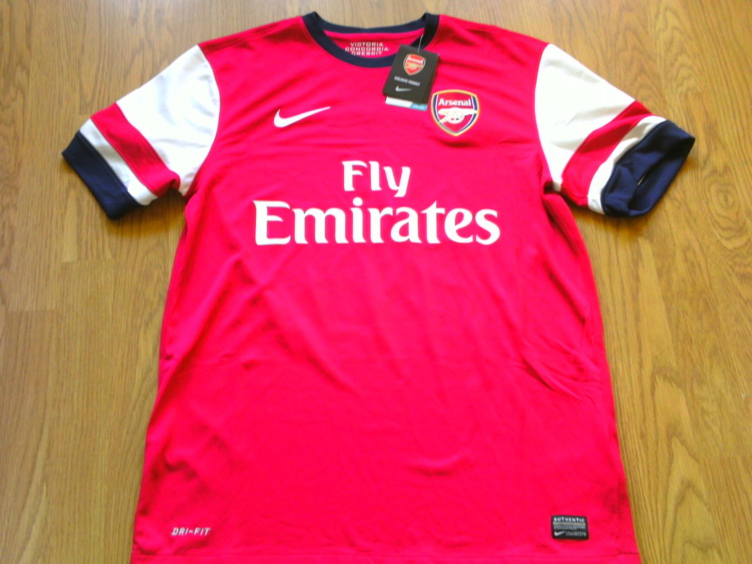 sale retailer 7408c 9aba4 Arsenal Home football shirt 2012 - 2014. Sponsored by Emirates
