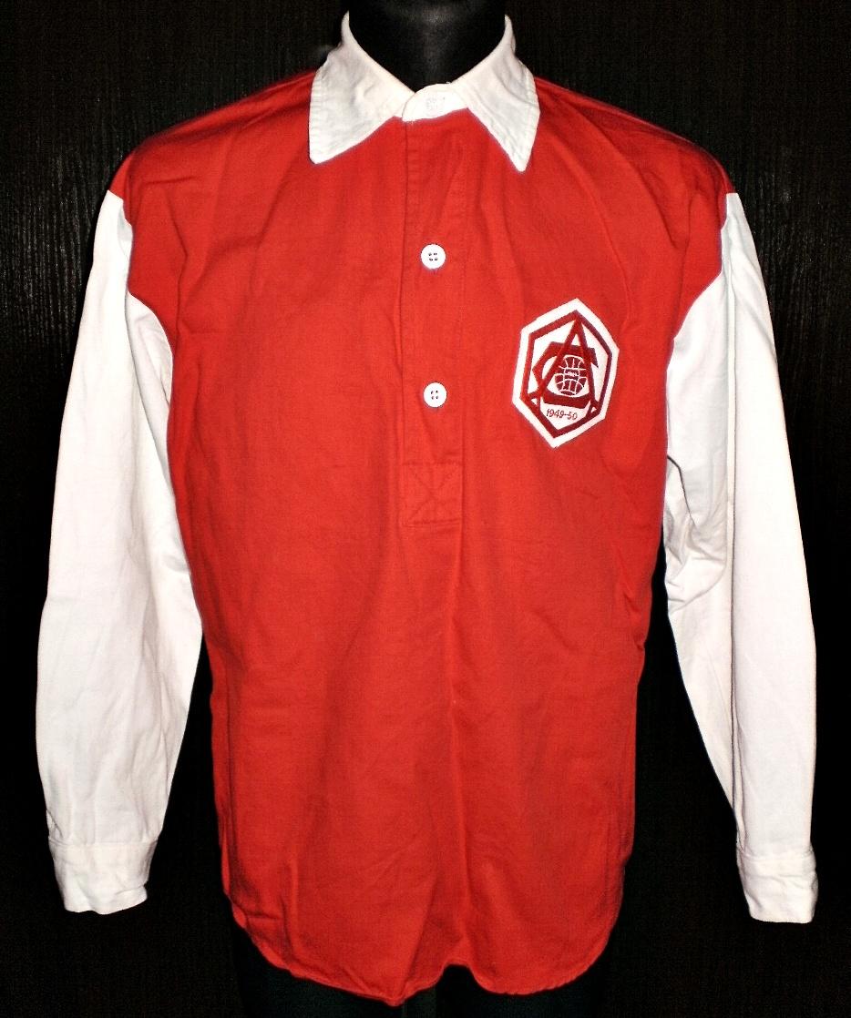 finest selection 7c9a5 1fb0d Arsenal Retro Replicas fotbollströja 1933 - 1957. Sponsored ...