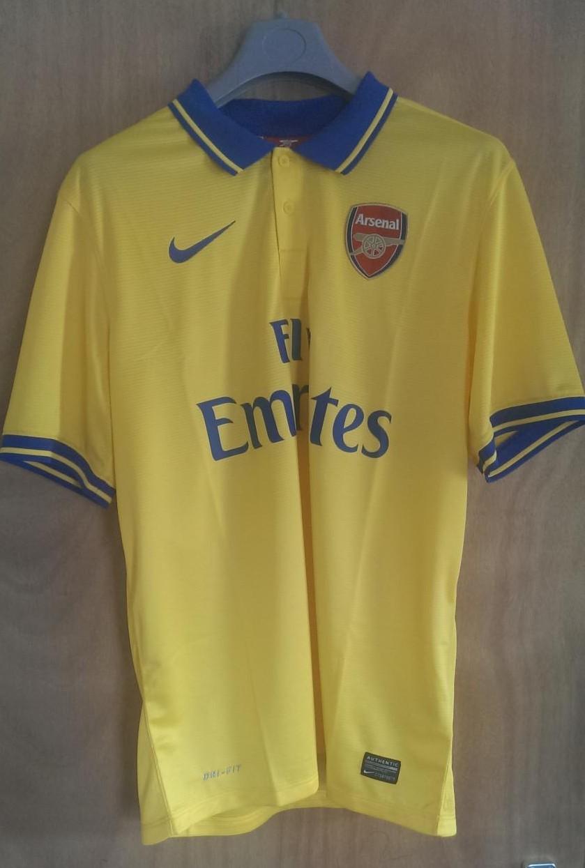 Arsenal ext rieur maillot de foot 2013 2014 ajout 2016 for Maillot exterieur