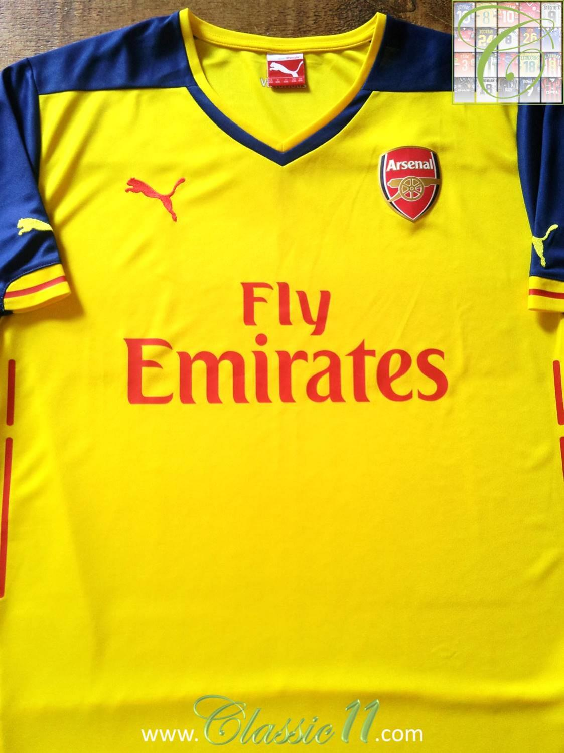 3982815c2ef Arsenal Away Maillot de foot 2014 - 2015. Sponsored by Emirates