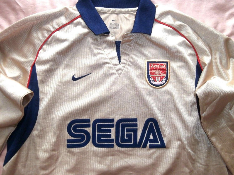 classic fit f66b8 17b3a Arsenal Away football shirt 2001 - 2002. Sponsored by SEGA