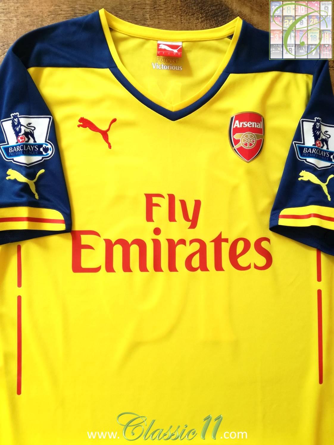 f3f0bde00da Buy Arsenal Home Shirt 2014 15 - DREAMWORKS