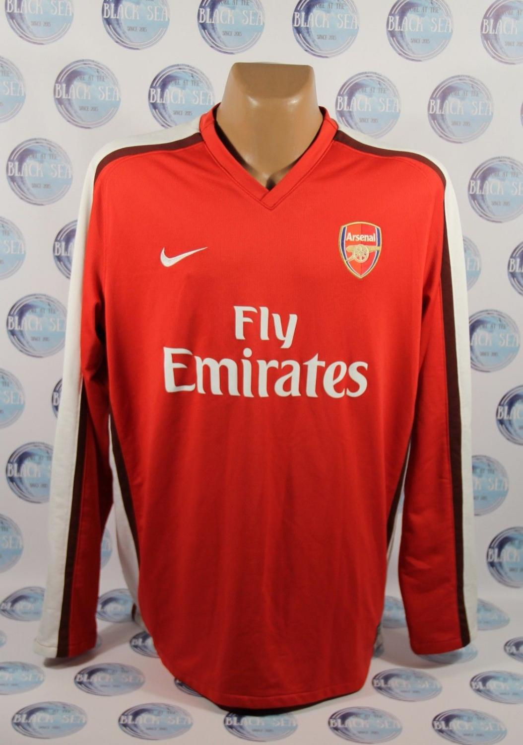f007f7f8a5c1e Arsenal Home football shirt 2008 - 2010. Sponsored by Emirates