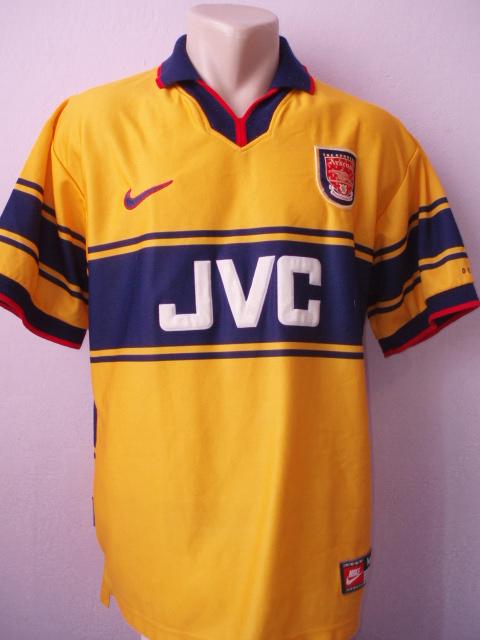 f8ffb358f Arsenal Away football shirt 1997 - 1999. Sponsored by JVC