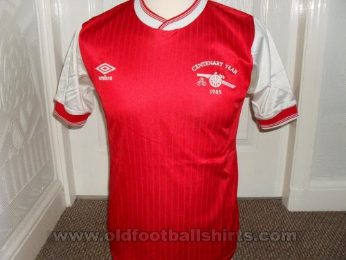 Arsenal Home baju bolasepak 1985 - 1986