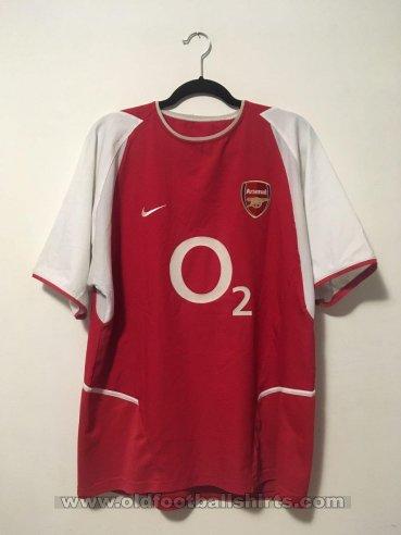 the latest fbbb8 c7c87 Arsenal Home maglia di calcio 2002 - 2004. Sponsored by O2