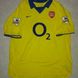 Arsenal Home voetbalshirt  2003 - 2004 sponsored by O2