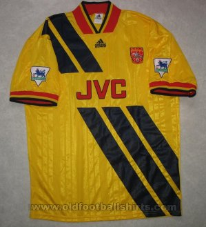 Arsenal Away baju bolasepak 1993 - 1994
