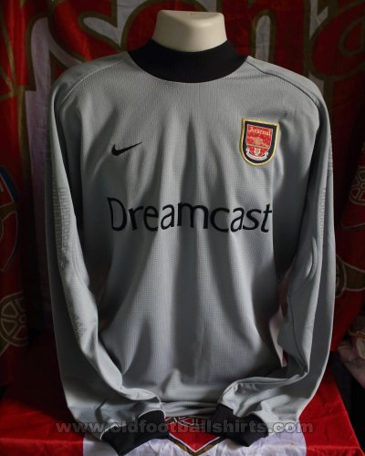 Arsenal Goalkeeper football shirt 2001 - 2002