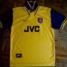 Arsenal Home voetbalshirt  1996 - 1997 sponsored by JVC