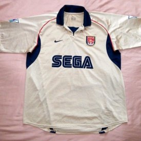 Arsenal Uit  voetbalshirt  2001 - 2002 sponsored by SEGA