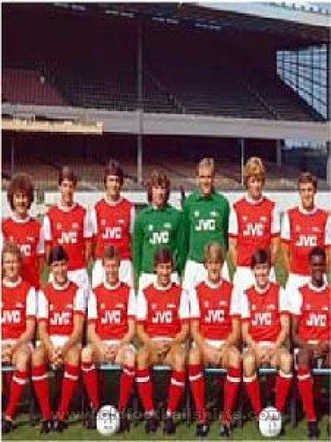 Arsenal Home baju bolasepak 1981 - 1982
