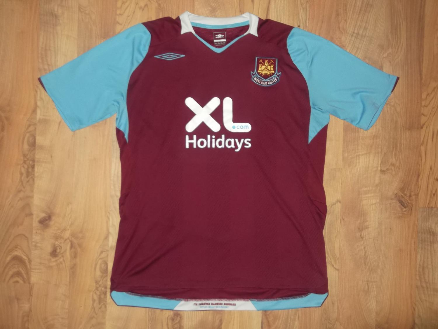 West Ham United Home Football Shirt 2007 2008 Added On