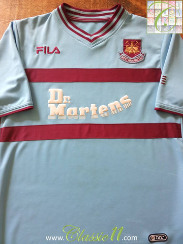 West Ham United Borta fotbollströja 2001 2003. Sponsored