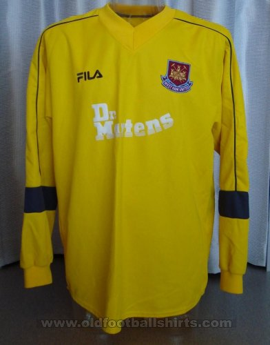 West Ham United Goalkeeper baju bolasepak 2001 - 2003