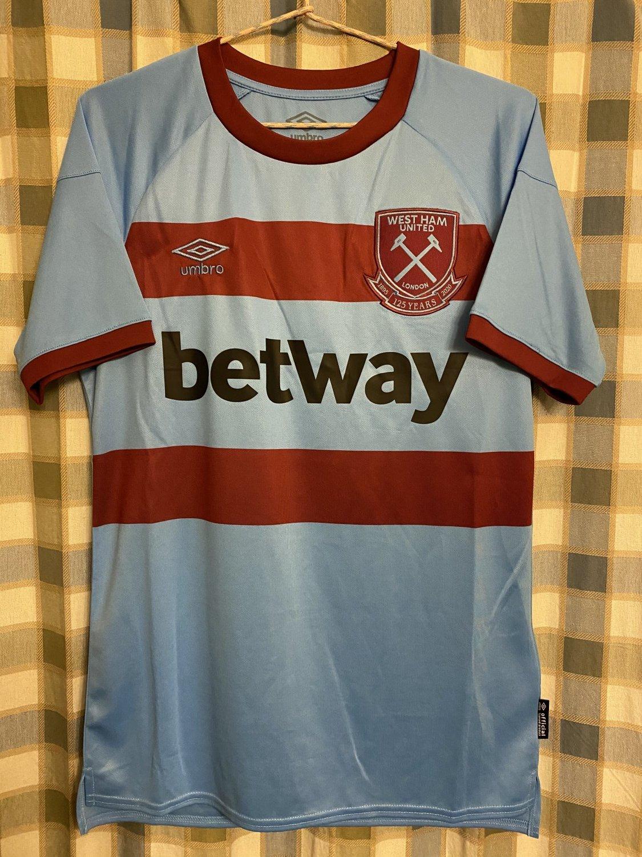 Musim Baru West Ham United Away baju bolasepak 2020 - 2021 ...
