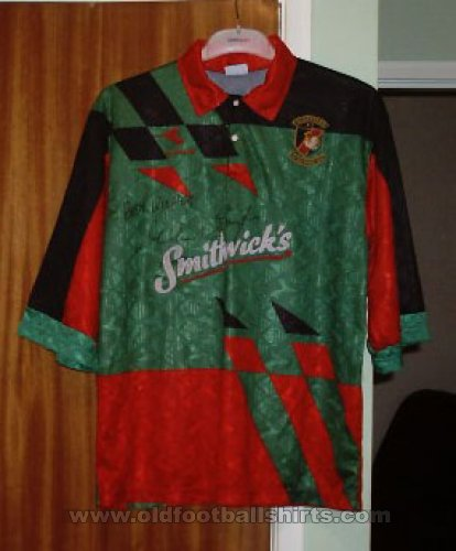 Glentoran Home Maillot de foot 1994 - 1996